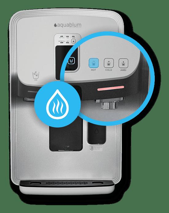 Auftische Umkehrosmoseanlage mit Kohlensaeure und heißem Wasser