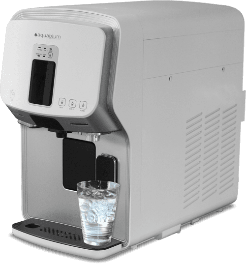 Auftisch Umkehrosmoseanlage mit Kohlensäure und Eiswürfel Wasserfilter